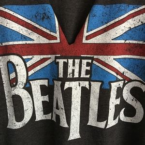 THE BEATLES Charcoal SS Graphic Tee